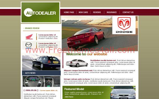 Free Auto Store Business CSS Website Template