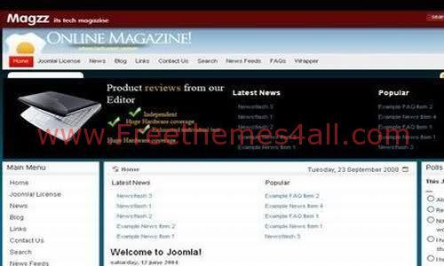 Free Joomla Magazine Web2.0 Theme Template
