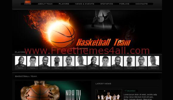 Free Web Templates - NBA Basketball Web2.0 Template