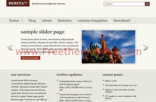 Free WordPress Business Magazine Web2.0 Theme