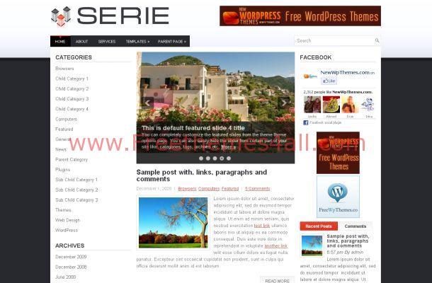 Free WordPress White Business Theme Template