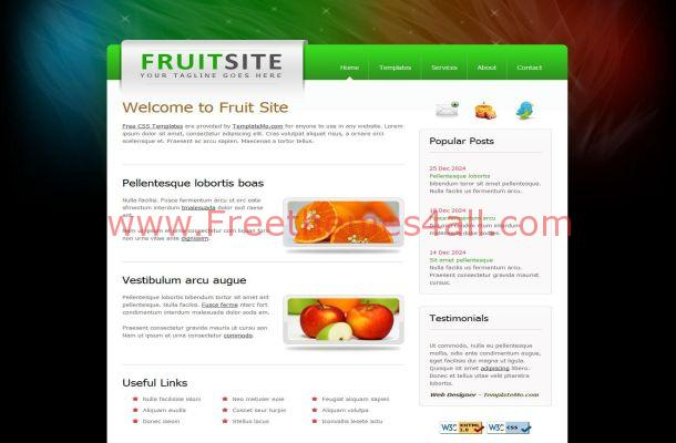 Free Jquery Fruits Health CSS Website Template