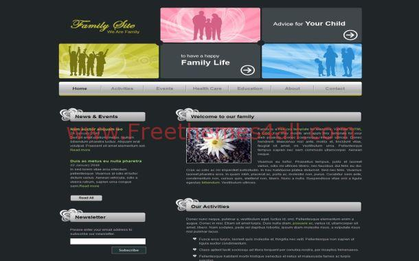 Black Family CSS Template
