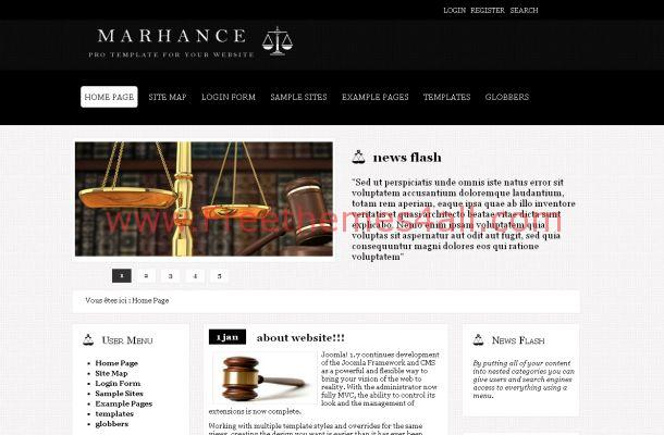 Black Lawyer Free Joomla Theme