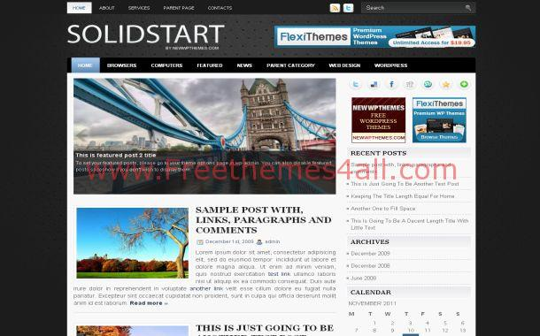 White Jquery Free Wordpress Theme