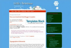 Blue Snow Blogger Christmas Template