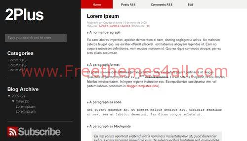 Free Blogger Gray Business Company Web2.0 Template