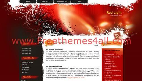 Free Blogger Red Vector Magazine Web2.0 Template