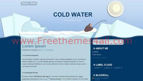 Free Blogger Ice Cold Design Web2.0 Template