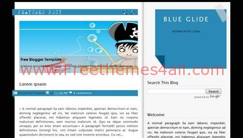 Free Blogger Bleu Sea Bubbles Web2.0 Template