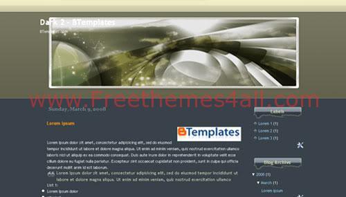 Free Blogger Dark Black Fantasy Web2.0 Template