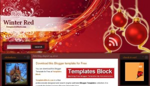 Red Design Blogger Template