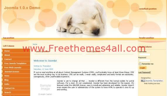 Animals Yellow Joomla Template