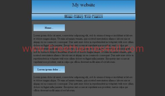 Free CSS Blank Gray Blue Website Template