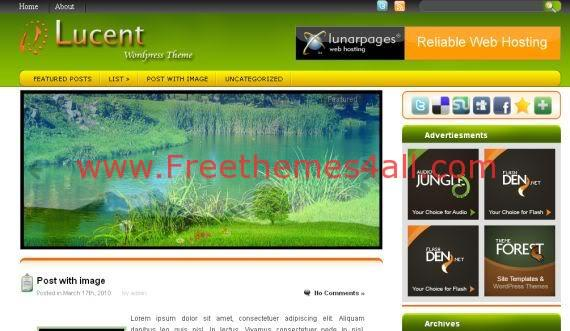 Free WordPress Nature Magazine Web2.0 Theme