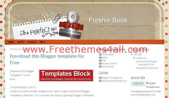 Free Blogger Freshie Book Design Template