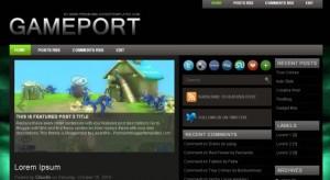 Green Dark Black Games Blogger Template