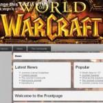 Free Brown WOW Warcraft Joomla Template