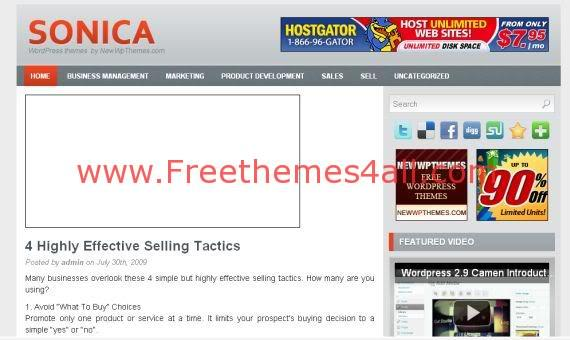 Free Sonica Magazine Gray Premium WordPress Theme