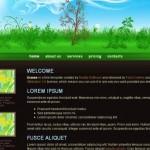 Black Garden Green CSS Template