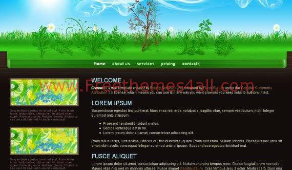 Black Garden Green CSS Template