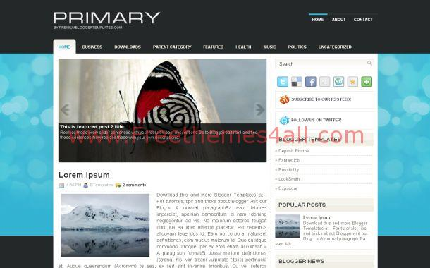 Blue Black Abstract Blogger Theme