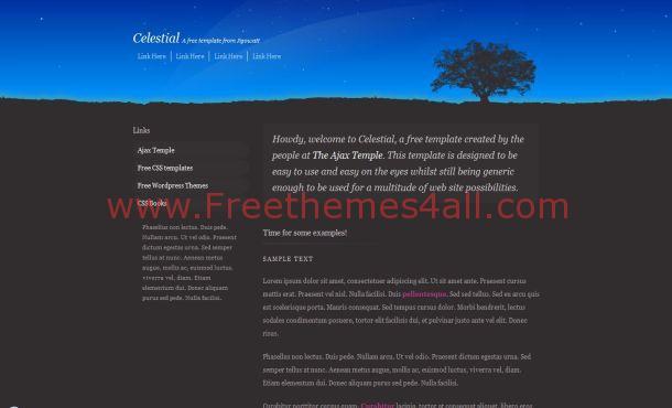 Blue Nature Website Template
