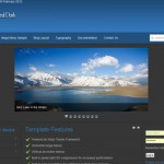 Black Blue Business Free Joomla Theme