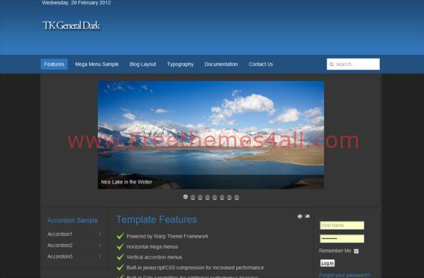 Blue Business Free Joomla Theme
