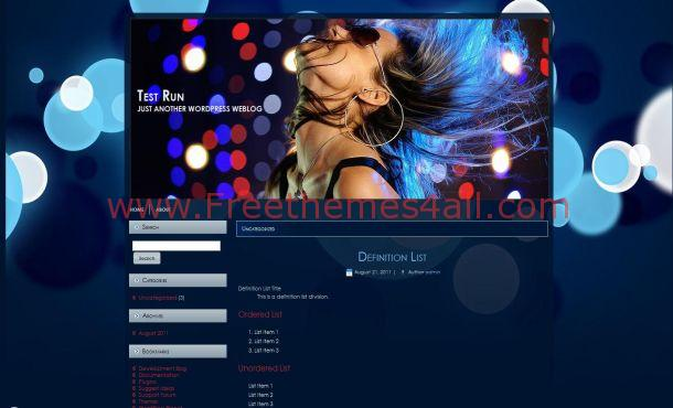 Music Free Wordpress Theme