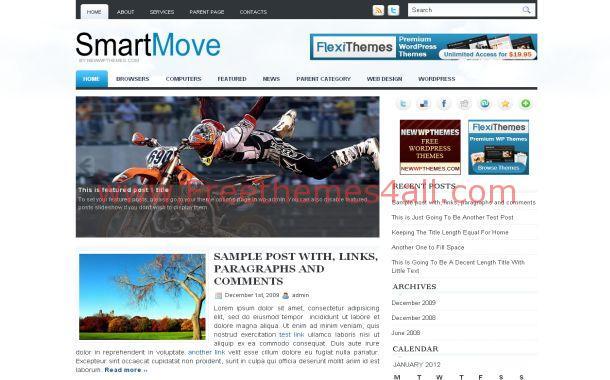 White Blue News Jquery Free WordPress Theme