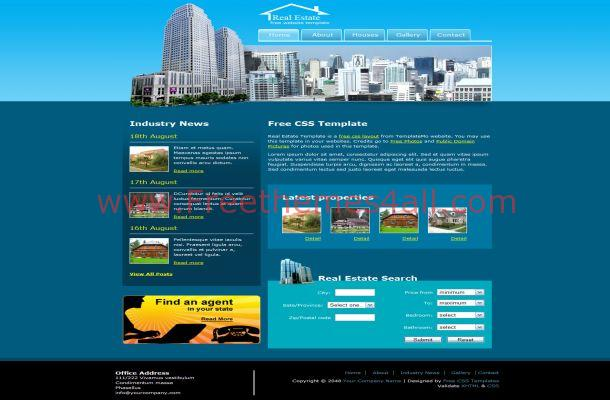 Free HTML Real Estate CSS Template