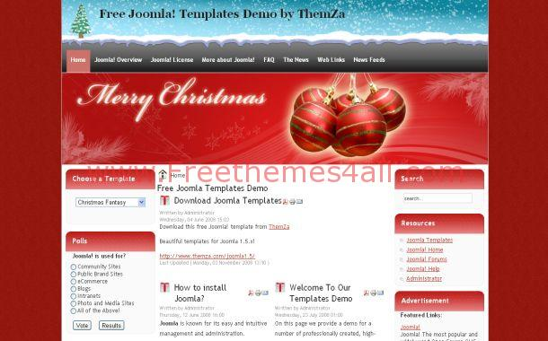 Christmas Red Free Joomla Theme