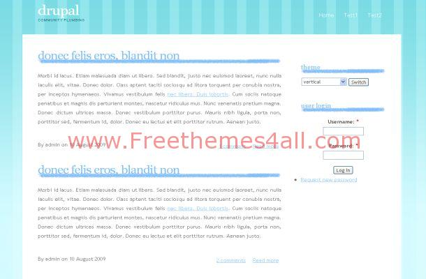 Blue White Business Grunge Drupal Theme Template