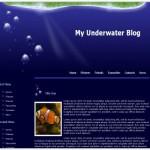 Beach Blue Water CSS Template