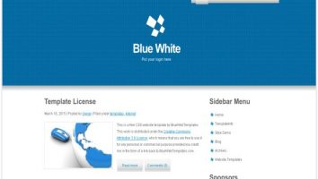 Free css website templates freethemes4all free responsive white blue css template pronofoot35fo Gallery
