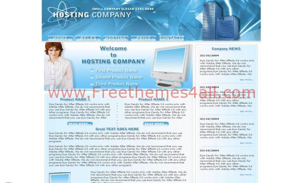 Free Blue Business CSS Website Template