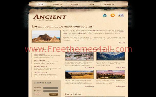 Abstract Black Brown Vintage CSS Template