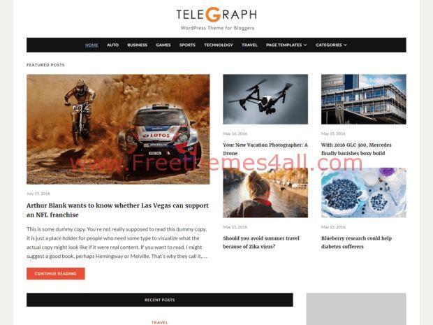 Free Yellow Brown WordPress Magazine Theme - Freethemes4all
