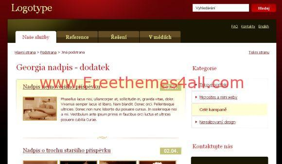 Free CSS Dark Brown Web2.0 Website Template