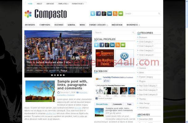 Business Black Chrome Free WordPress Theme Template