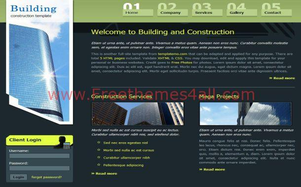 Free HTML Green Black Business CSS Template