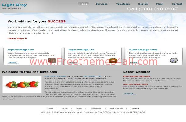 Free CSS Grey Business HTML Website Template