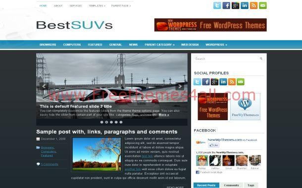 Cars Blue Jquery Free WordPress Theme Template