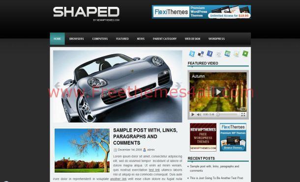 Free Cars Magazine Wordpress Theme Freethemes4all