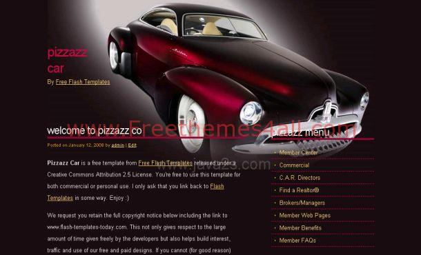 Abstract Black Red Cars CSS Template