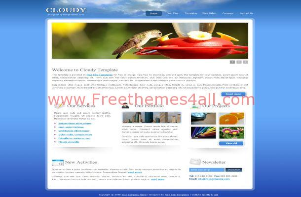 Nature Blue Clouds Website Template