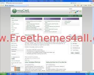 MiaCMS Free CMS Script