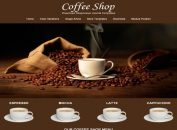 Free Respnsive Brown Coffee Joomla Template