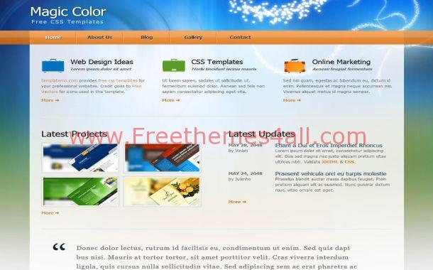 Colorful Business Free CSS Template